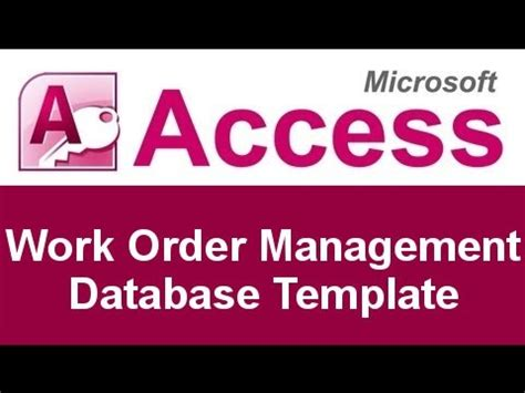 work order database template microsoft access work order management database template