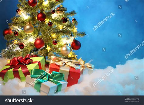 christmas tree with decorations christmas concept stock