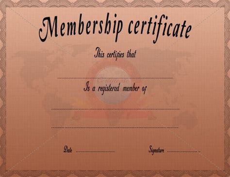 new member certificate template 6 membership certificate templates website