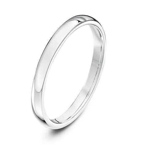 platinum heavy court 2mm wedding ring