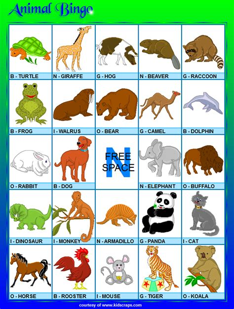printable animal bingo animal bingo related keywords animal bingo long tail