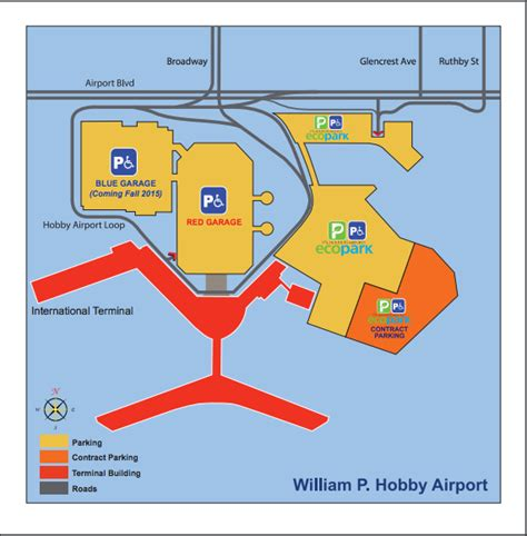 houston hobby map hobby airport parking guide hou airport parking
