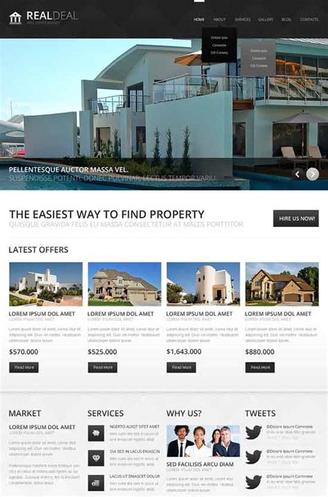 joomla templates real estate 30 best real estate joomla templates 2017 freshdesignweb