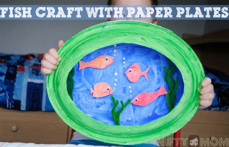 How To Make A Fish Out Of A Paper Plate - preschool craft a 3d fish with paper plates