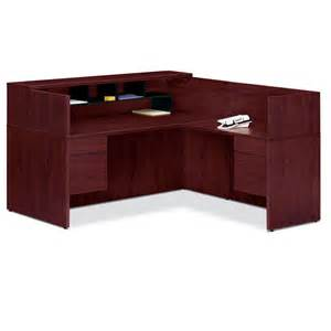 Reception Desk With Transaction Counter Hon 10500 L Reception Desk With Transaction Counter Organizer Ships Free