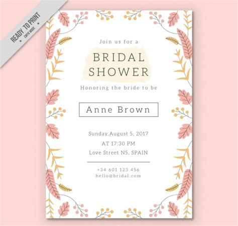 27 Bridal Shower Invitations Free Premium Download Pretty Invitation Templates