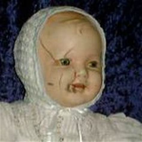 haunted doll mandy cracked glass