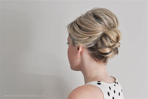 easy updo hairstyles for thin hair easier than it looks updo tutorial the small things