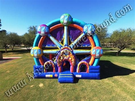 bounce house rentals az ferris wheel bounce house rentals carnival themed inflatable phoenix scottsdale
