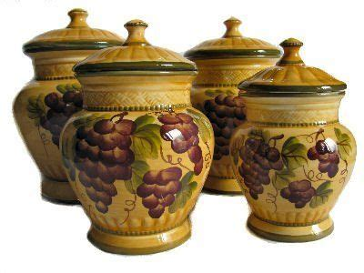 tuscan kitchen canister sets 4pc ceramic canister set tuscany grape by ack http www dp b00183al4s ref cm sw r