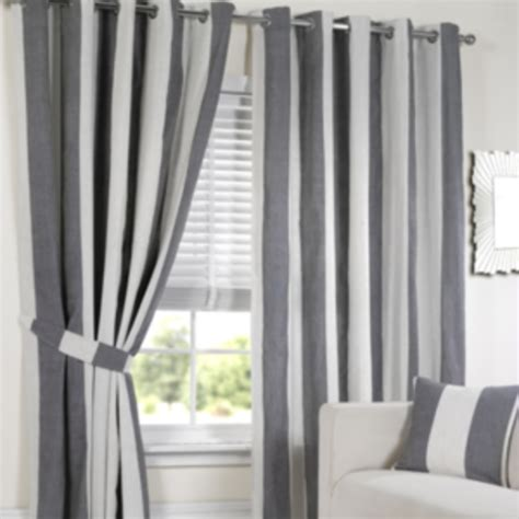Lisbon Black Stripe Curtains