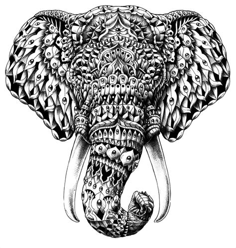 quot ornate elephant head quot posters by bioworkz redbubble