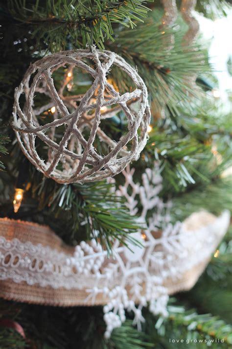 diy glitter twine ornaments twine ornaments grows