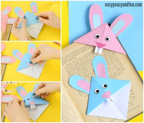 Origami Easter Bunny - easter bunny corner bookmark diy origami for easy