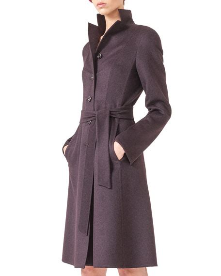 Wool Belted A Line Coat From Ms by Akris Wool Angora Belted A Line Coat