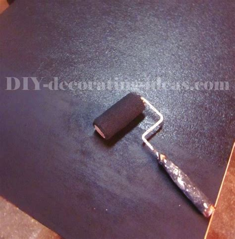 chalkboard paint roller chalkboard with faux rust frame pretty and