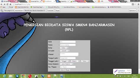 membuat website sederhana dengan php membuat web validasi form sederhana dengan javascript dan