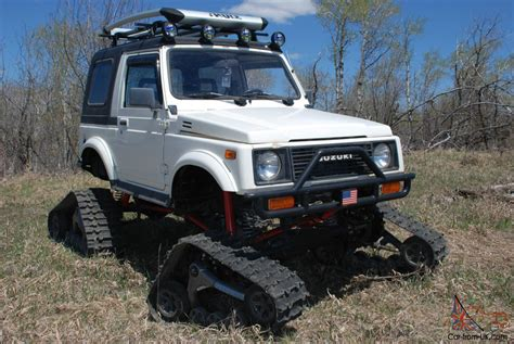 suzuki samurai lifted suzuki samurai snowcat jeep rockcrawler 4x4 lifted tracks