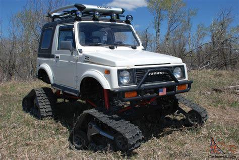 suzuki samurai truck suzuki samurai snowcat jeep rockcrawler 4x4 lifted tracks