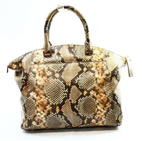 Maddox Satchel Embossed Size M michael kors new brown python embossed large satchel