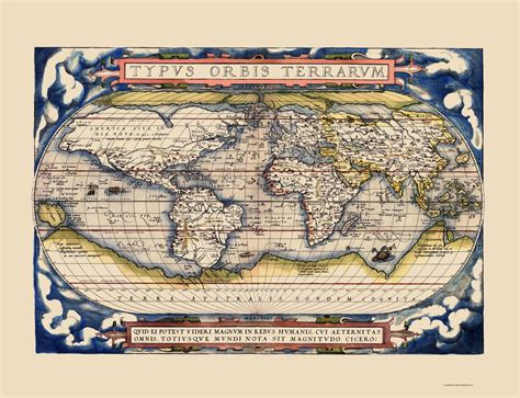 terra cognita return to new guinea books international maps the world by abraham ortelius 1598