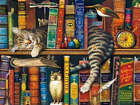 Charles And Ceits 750 puzzle charles wysocki cats frederick the