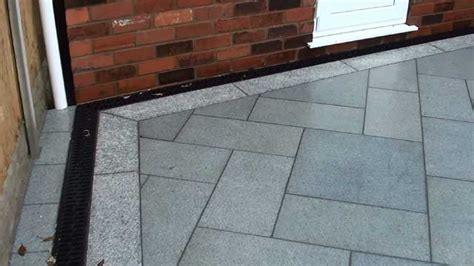 Patio Drainage Channel by Eclipse Granite Patio Marshall S Regional Award Winner