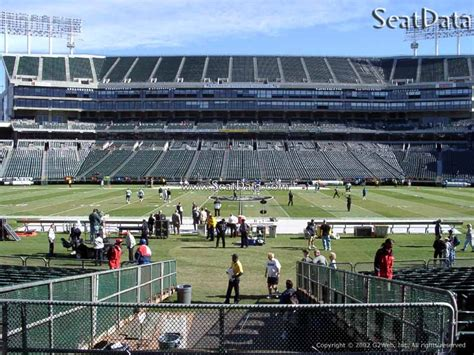 section 8 alameda county oakland coliseum section 117 oakland raiders