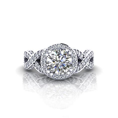Halo Infinity Engagement Ring   Jewelry Designs