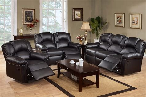 bonded black leather sectional sofa with recliner 3pc montclair black bonded leather rocker recliner