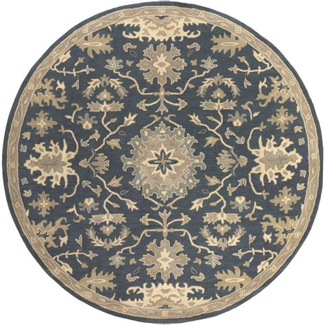 6 x 6 area rug artistic weavers gilgamesh navy 6 ft x 6 ft indoor area rug s00151007742 the home depot