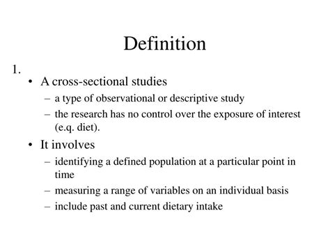cross sectional studies ppt ppt cross sectional study powerpoint presentation id
