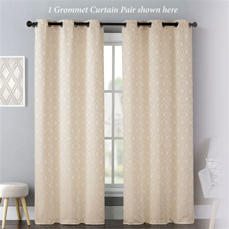 mulberry curtains mulberry ogee patterned cream grommet curtains