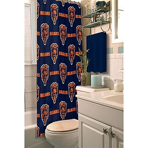 chicago bears shower curtain buy nfl chicago bears shower curtain from bed bath beyond