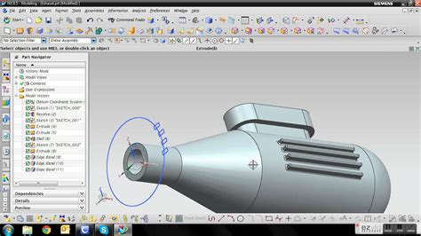 youtube tutorial nx siemens nx 8 5 engine tutorial 11 exhaust youtube