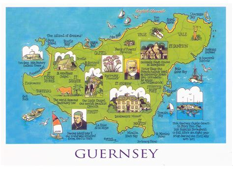 map of tourist large tourist illustrated map of guernsey guernsey