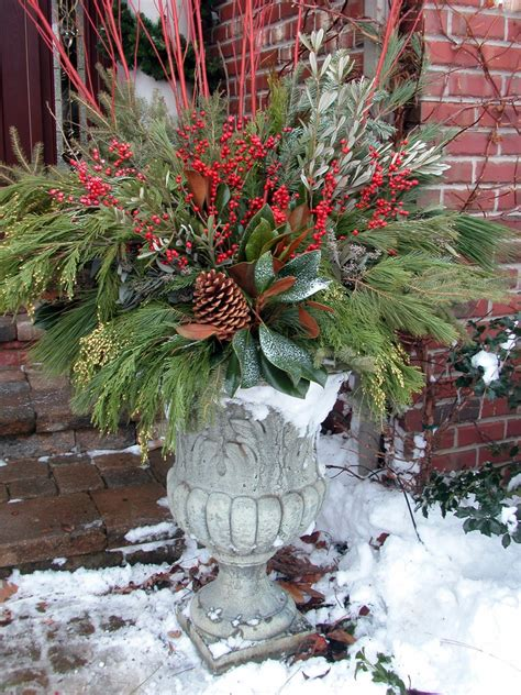 best holiday decorating ideas houzz splashy snow cone machine in spaces traditional with urn planter next to porch planters