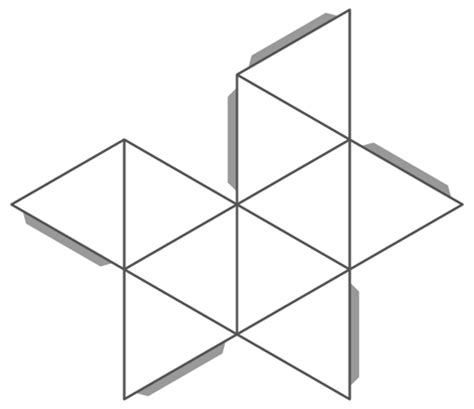 icosahedron template image gallery icosahedron template
