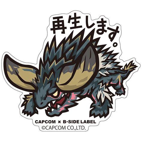 Monster Hunter Aufkleber by イーカプコン Capcom 215 B Side Label ステッカー モンスターハンター ワールド 6枚セット 6枚