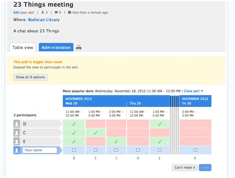 doodlebug poll thing 21 using doodle and other scheduling tools
