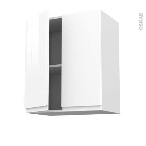 meuble haut de cuisine blanc meuble de cuisine haut ouvrant ipoma blanc brillant 2