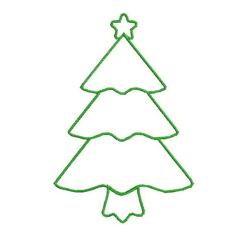 green christmas tree outline clipart clipart suggest