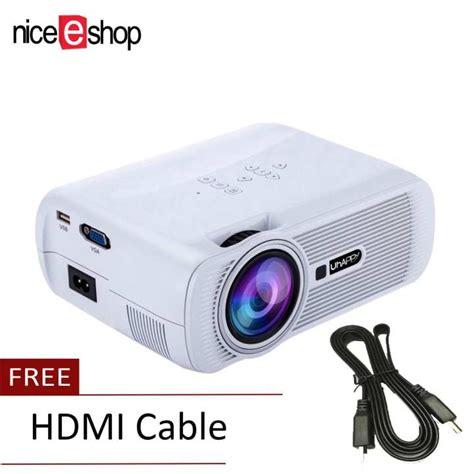Proyektor Mini Hd niceeshop 1000 lumen lcd mini proyektor memimpin 1080p hd rumah sinema proyektor teater putih