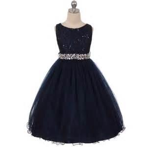 Navy blue flower girl dresses birthday wedding bridesmaid formal party