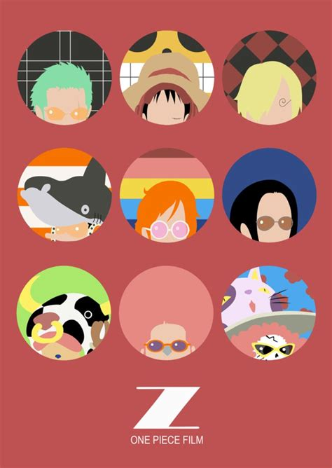 film one piece z fr one piece film z minimalist poster ver 2 by