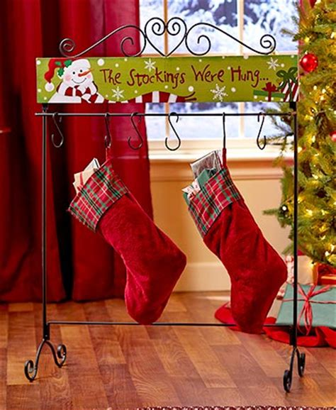 standing holiday stocking hanger the lakeside collection
