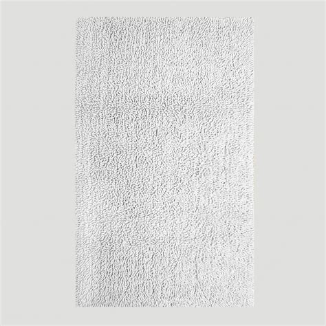 White Bathroom Rug White Shag Bath Rug World Market