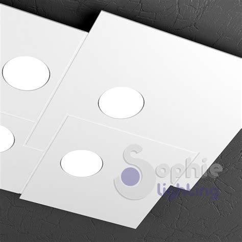 plafoniera led bagno plafoniera led quadrata design moderno acciaio bianco bagno