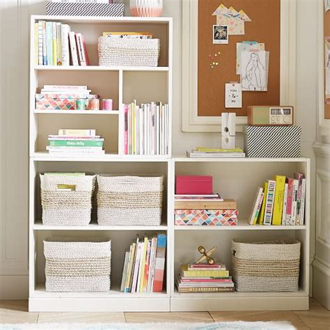Bookcase Set Stack Me Up Low Bookcase Set Pbteen