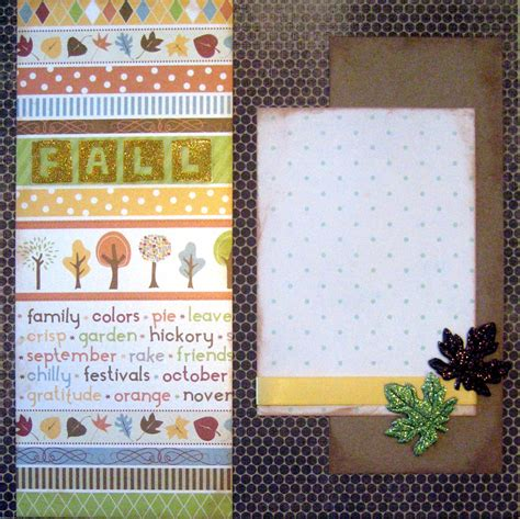 scrapbook layout kits scrapbooking layout kit fall premade 2 pages scrapbook autumn